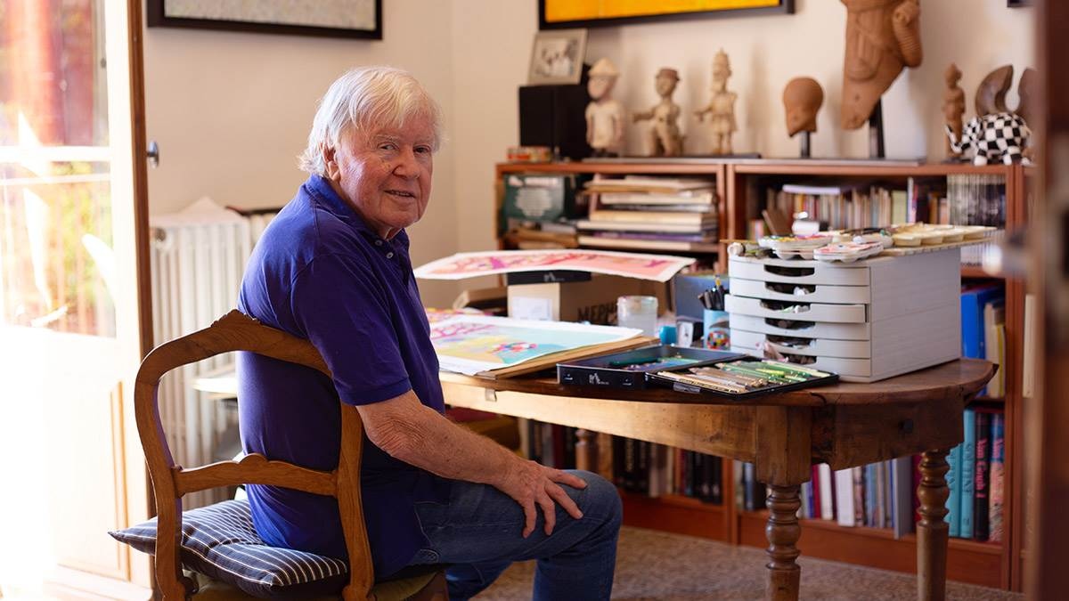 David McKee at his desk