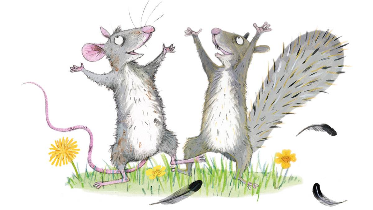 An illustration from Cyril and Pat by Emily Gravett