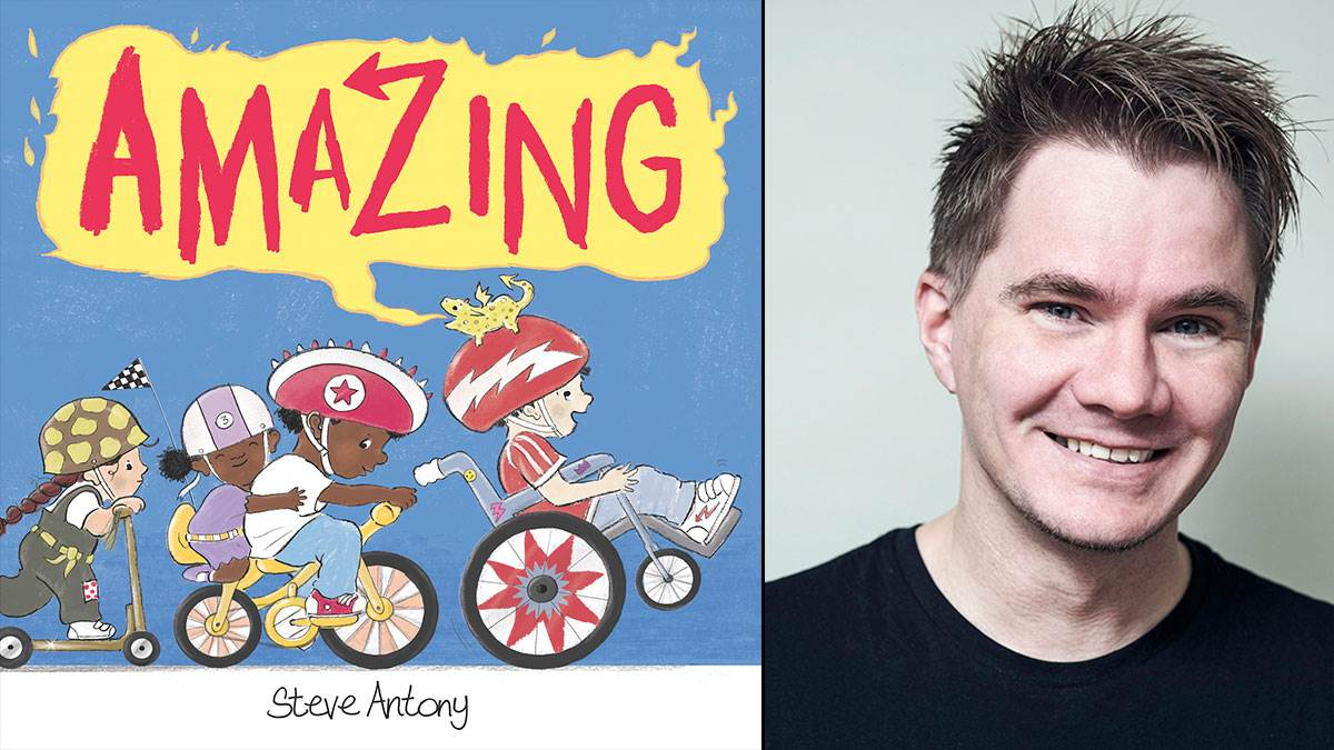 The front cover of Amazing and author Steve Antony