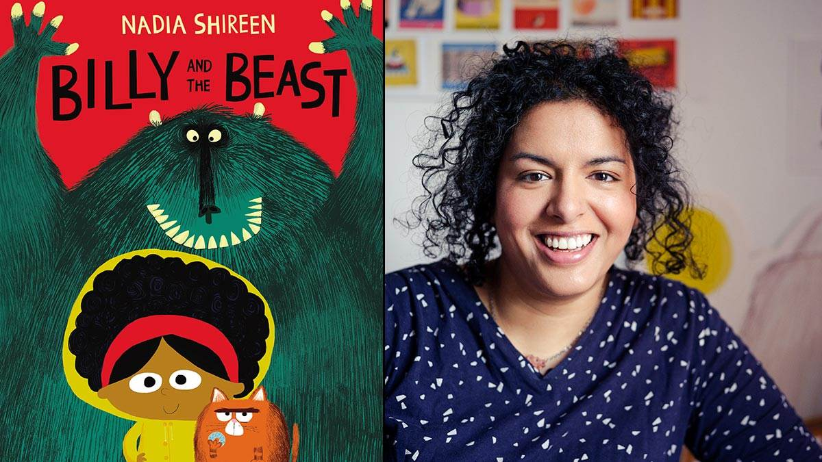 The cover of Billy and the Beast and author Nadia Shireen