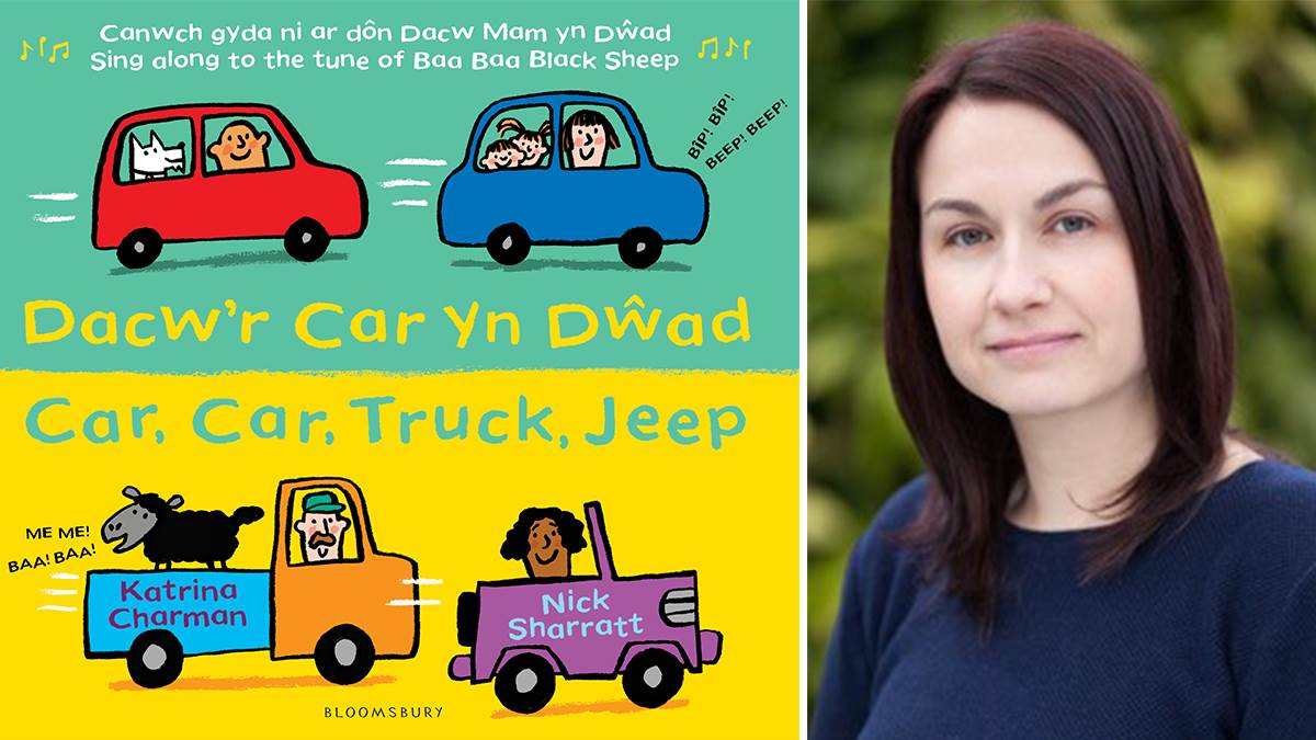 Katrina Charman with Welsh cover of Car Car Truck Jeep