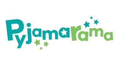 Pymamarama logo in teal and green