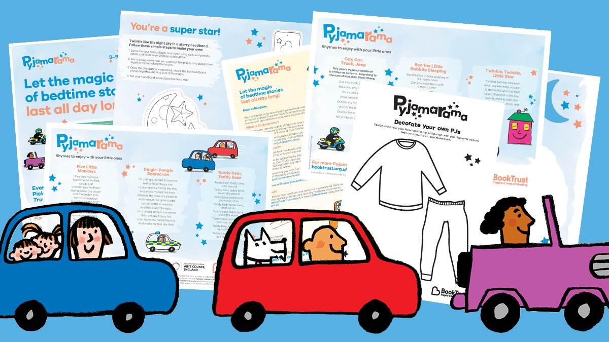 Pjamarama activities produced by BookTrust