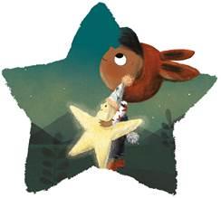 Girl and her star illustration