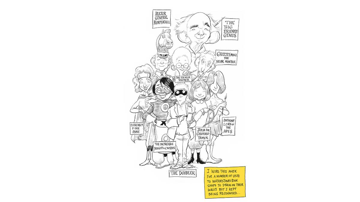Chris Riddell League of Laureates illustration