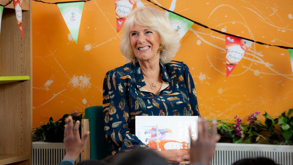 HRH The Duchess of Cornwall on a school visit