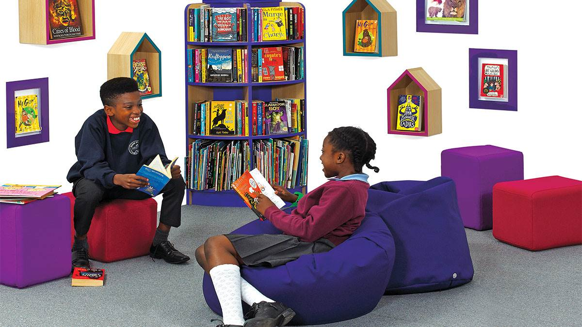 A BookSpace reading corner