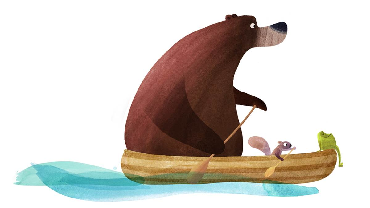 Illustration from I'm Sticking With You by Smriti Halls and Steve Small