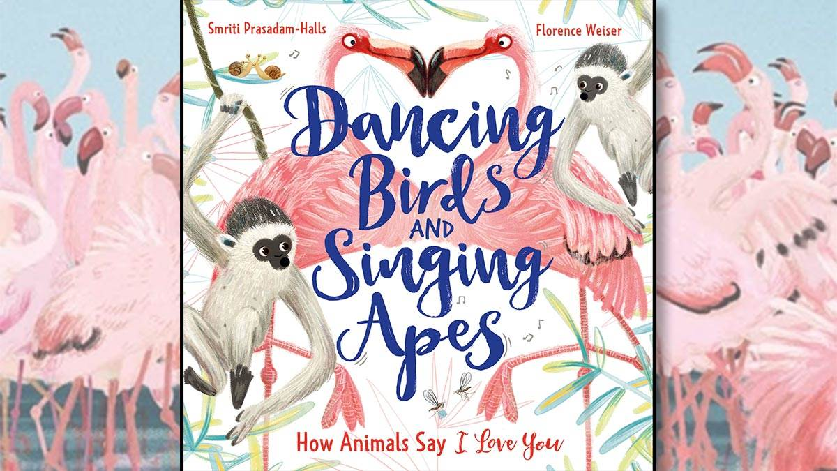 The front cover of Dancing Birds and Singing Apes