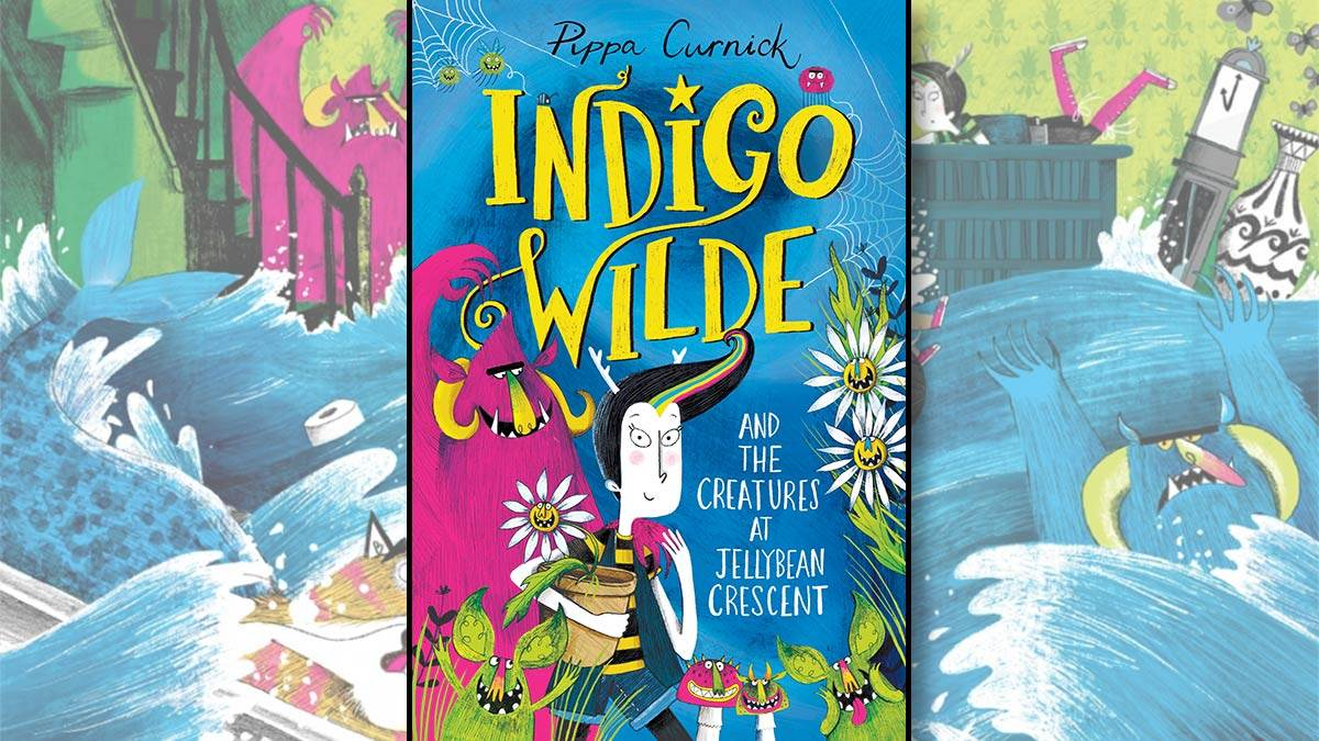 The front cover of Indigo Wilde and the Creatures at Jellybean Crescent