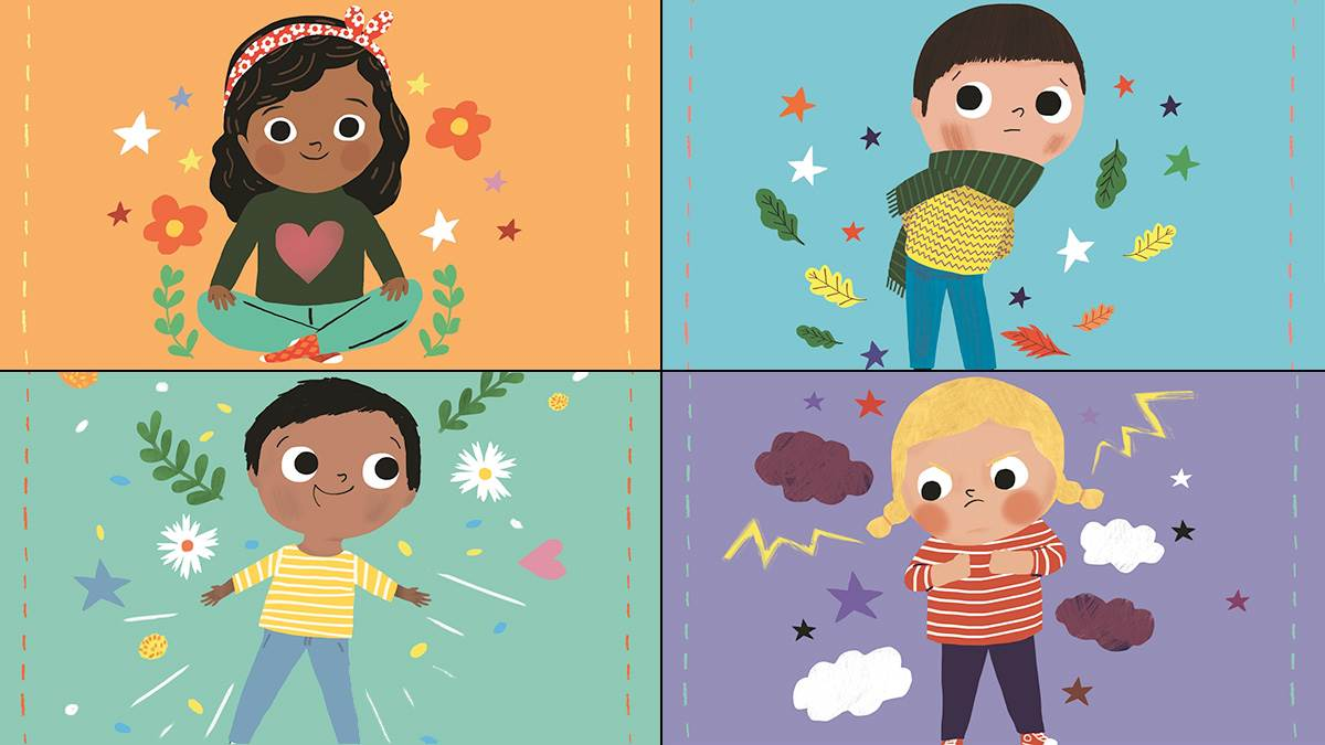 The front cover of four Little Big Feelings books: I Can Be Patient, I Can Say Sorry, When I Am Happy and Sometimes I Am Angry