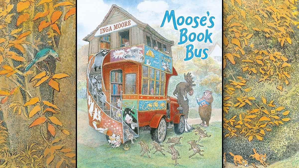 The front cover of Moose's Book Bus