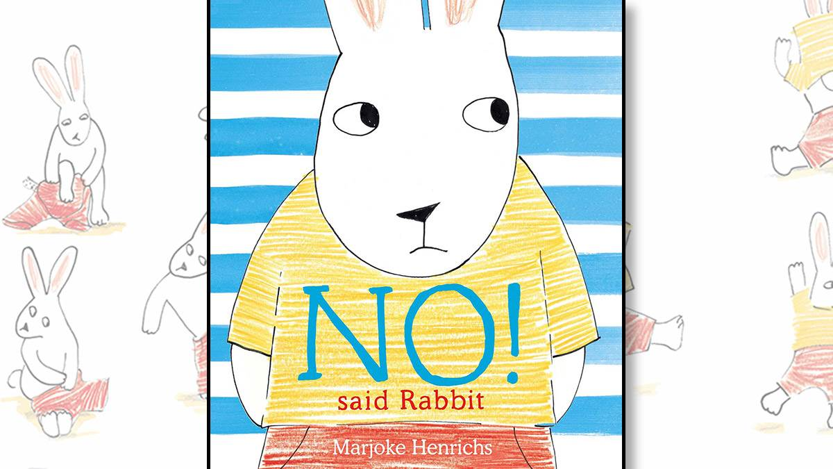 The front cover of No! Said Rabbit