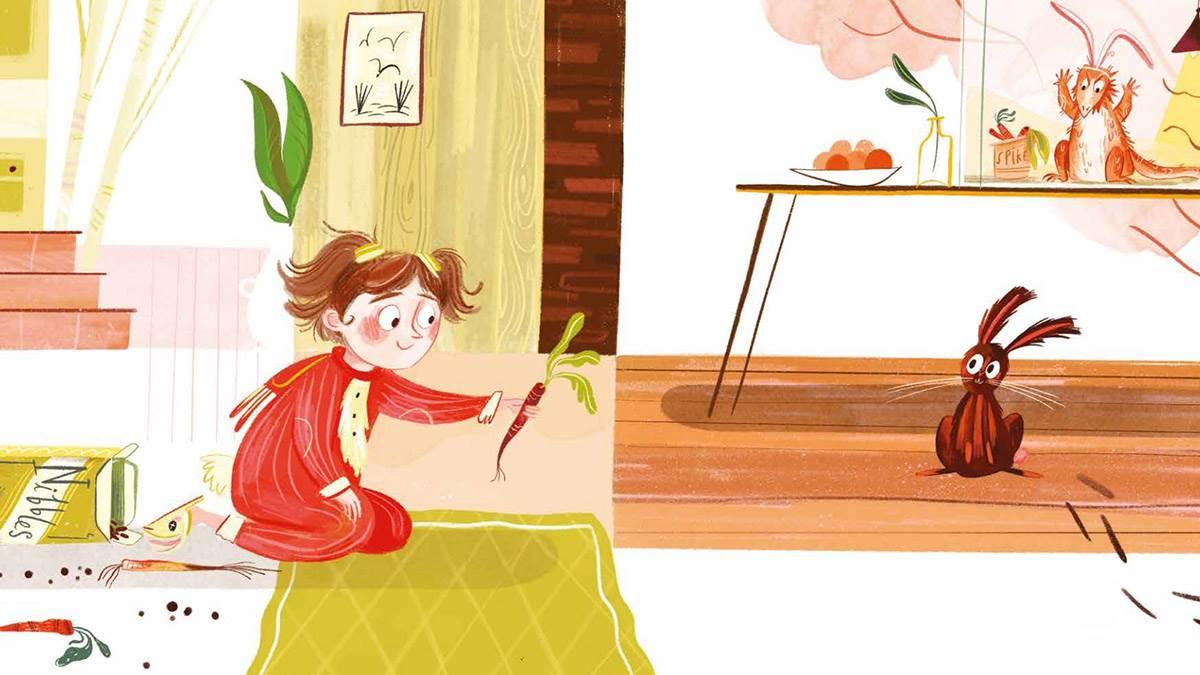 An illustration from Rita's Rabbit