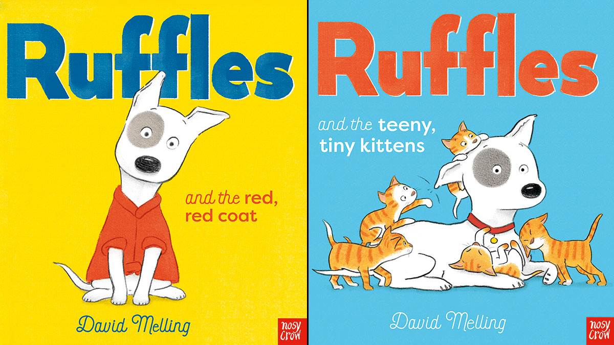 The front covers of Ruffles and the Red, Red Coat and Ruffles and the Teeny, Tiny Kittens