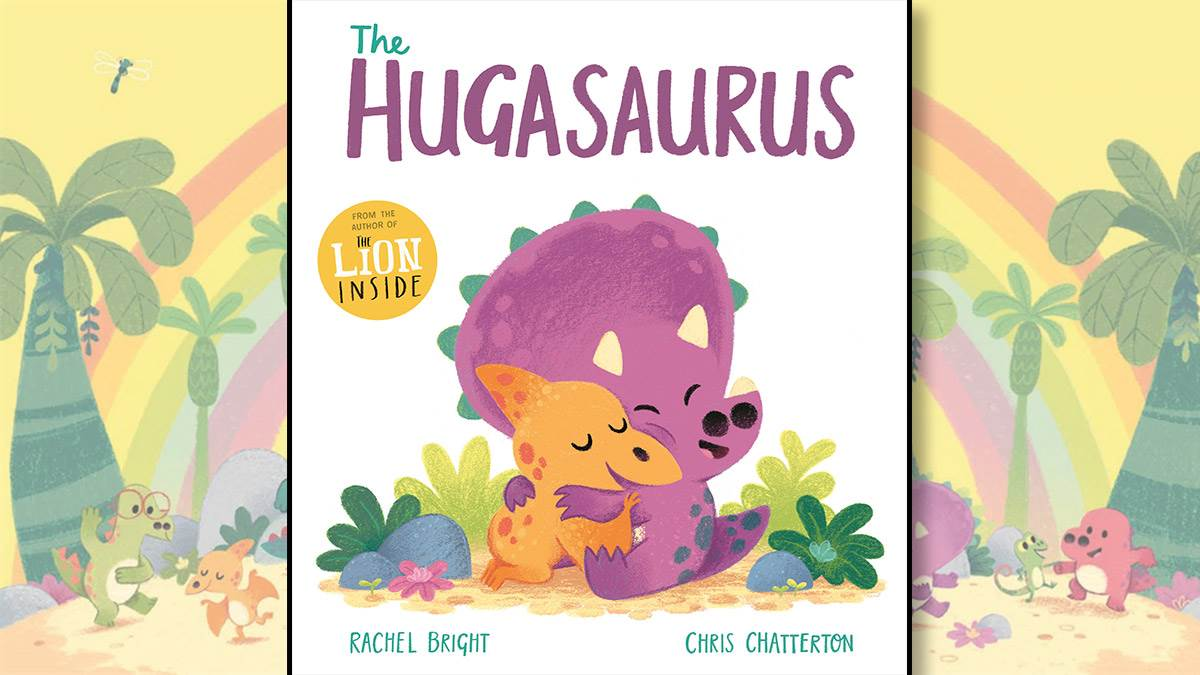 The front cover of The Hugasaurus