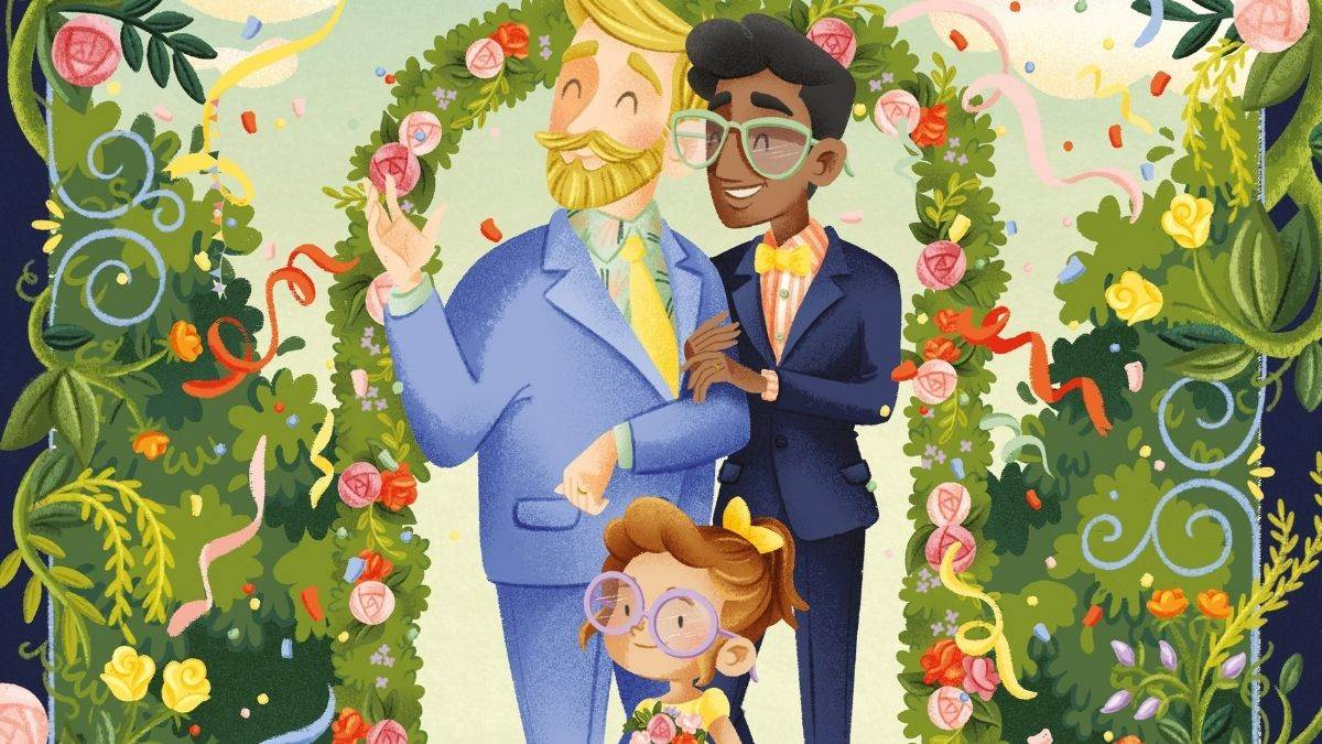 Illustration: Uncle Bobby's Wedding by Sarah S Brannen and Lucia Soto
