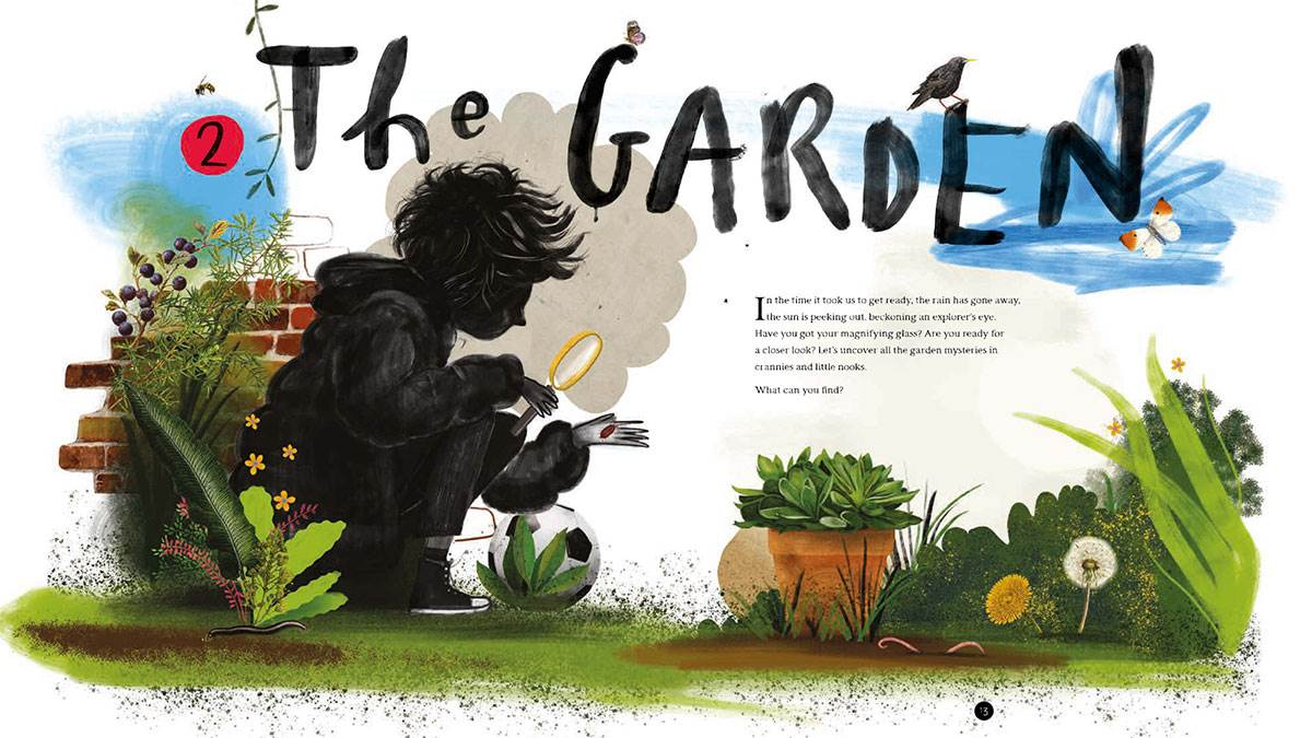 An illustration of a garden from Wild Child