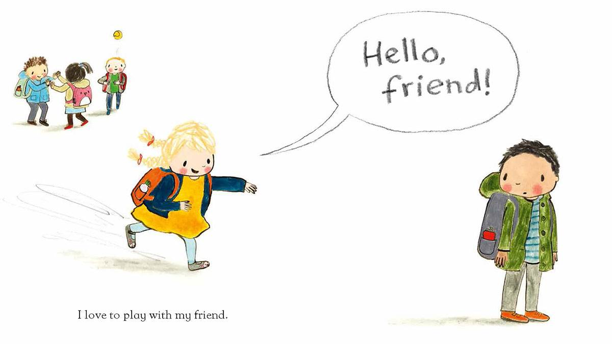 Illustration from Hello Friend by Rebecca Cobb
