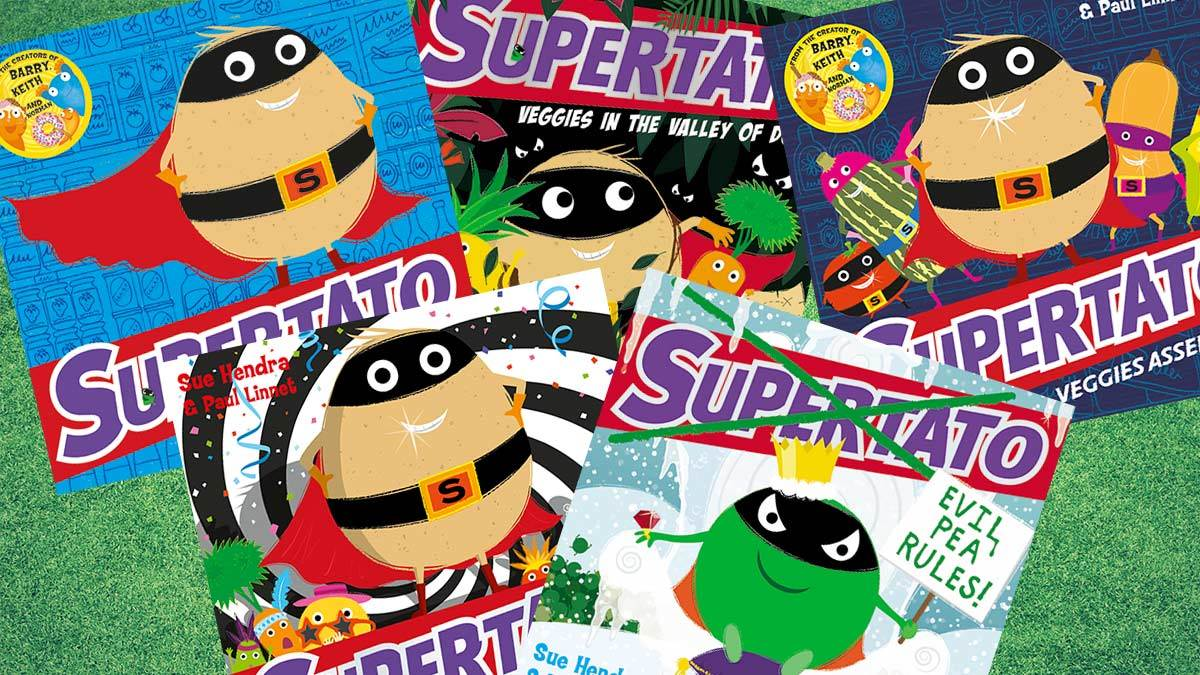 The front covers of the books in the Supertato series