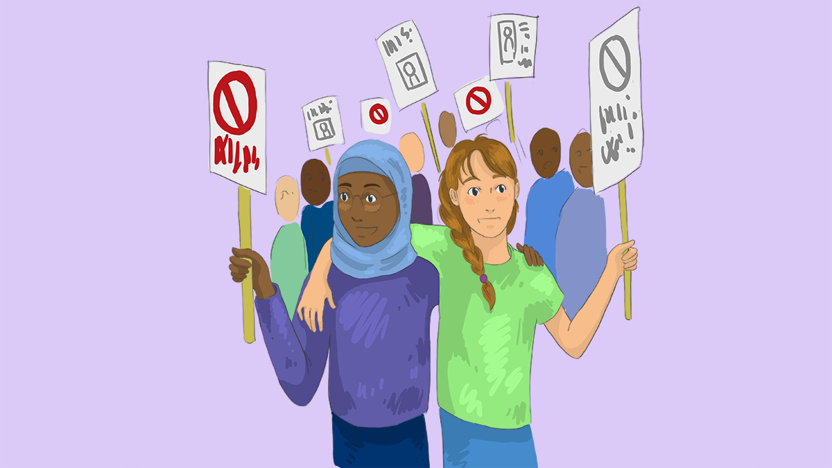 Politics and Human Rights, illustration by Emily Rowland