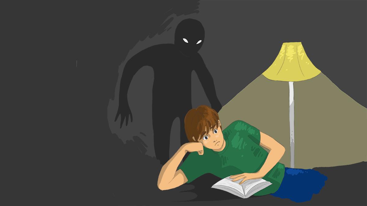 Emily Rowland's scary illustration