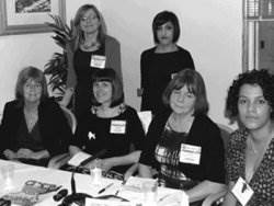 Alexandra Strick with some of the panellists at the London Book Fair seminar
