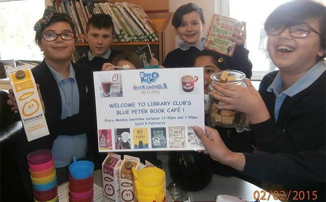 The Library Club's Blue Peter Book Café at Perrywood School