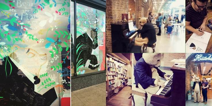 Window paintings and book launch at St Pancreas station
