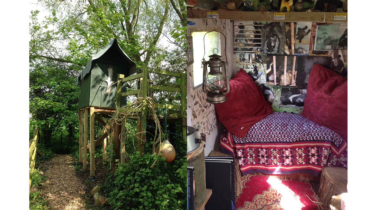 Gill Lewis's writing shed