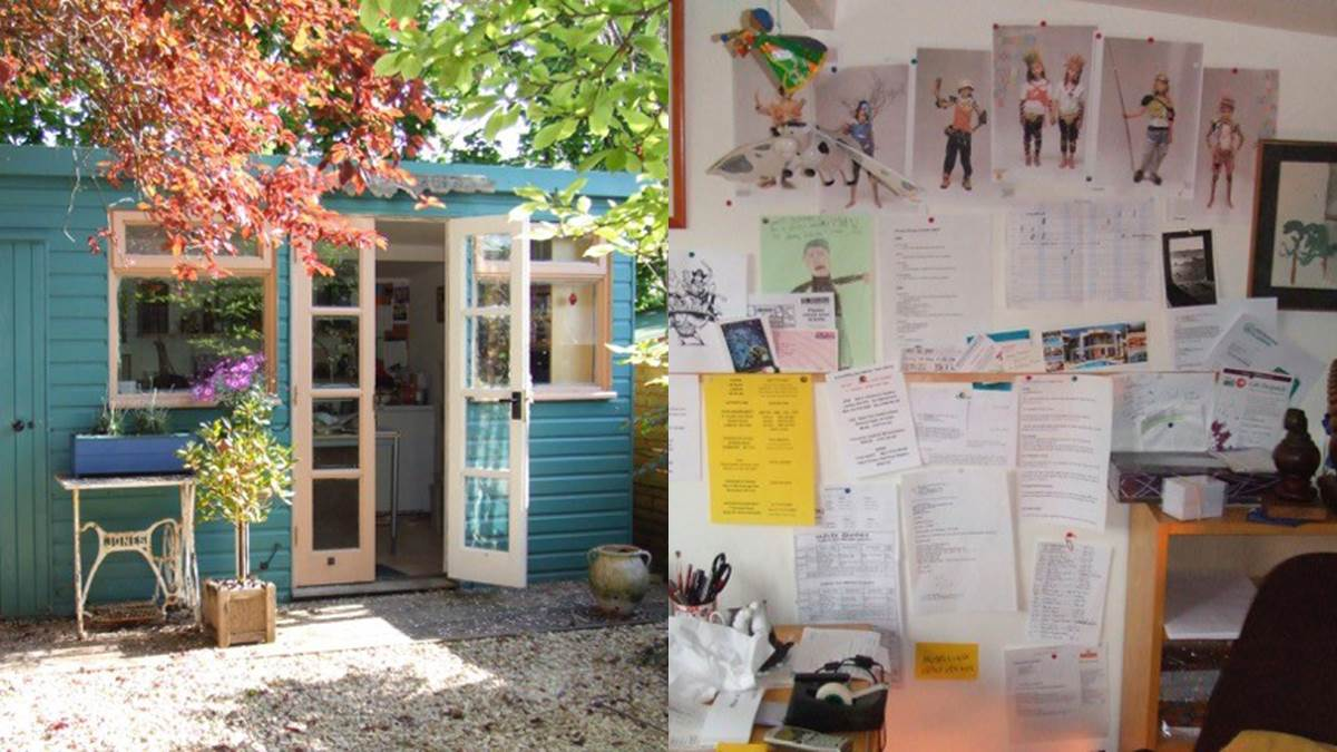 Jeremy Strong's writing shed