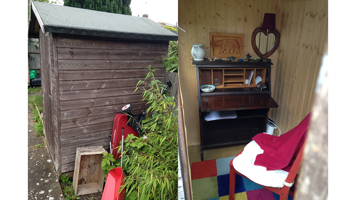 Mimi Thebo's writing shed
