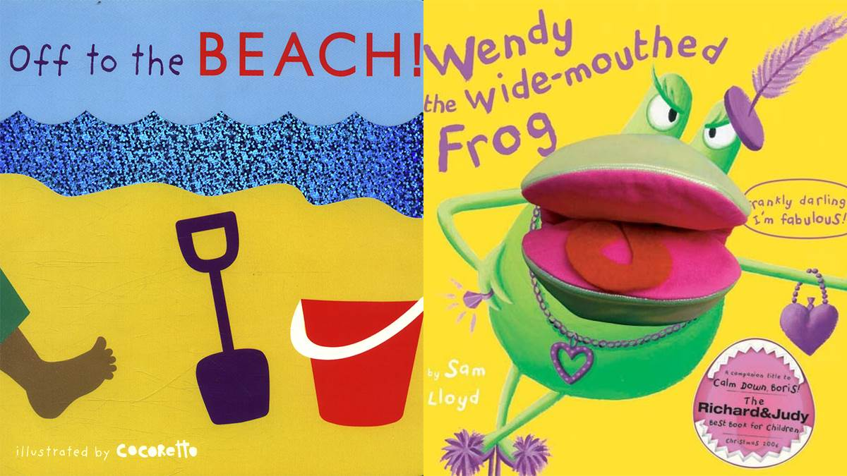 Off To The Beach and Wendy The Wide-Mouthed Frog