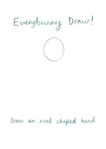 How to draw Everybunny Dance: Step one