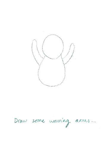 How to draw Everybunny Dance: Step three