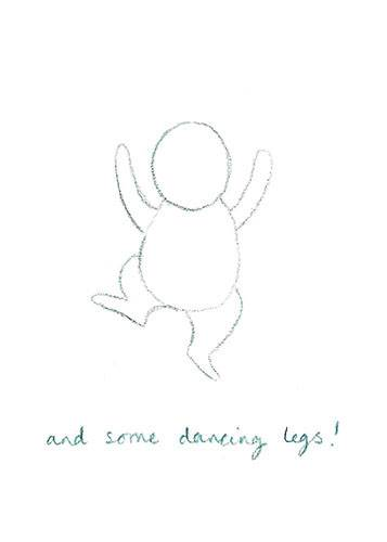 How to draw Everybunny Dance: Step four