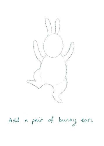 How to draw Everybunny Dance: Step five