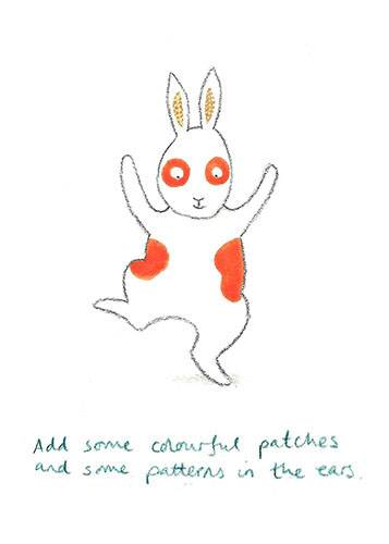 How to draw Everybunny Dance: Step seven