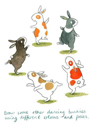 How to draw Everybunny Dance: Step eight