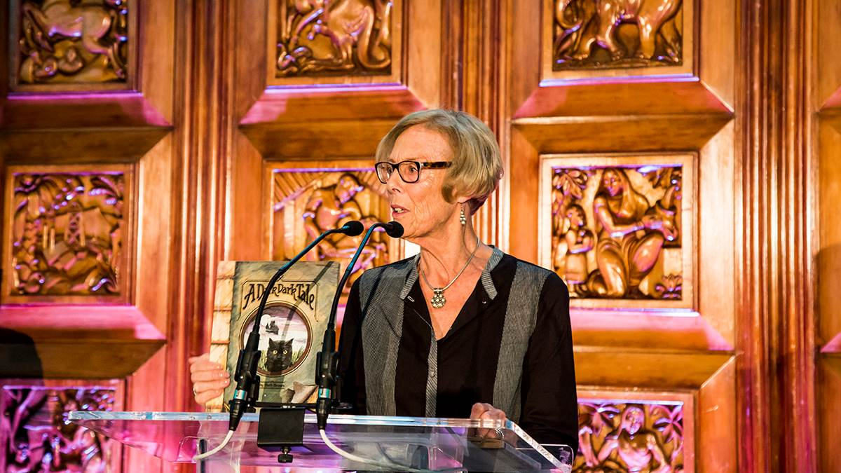 Wendy Cooling is honoured with an Outstanding Contribution award