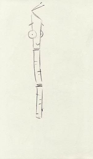 How to draw a stick insect step 4