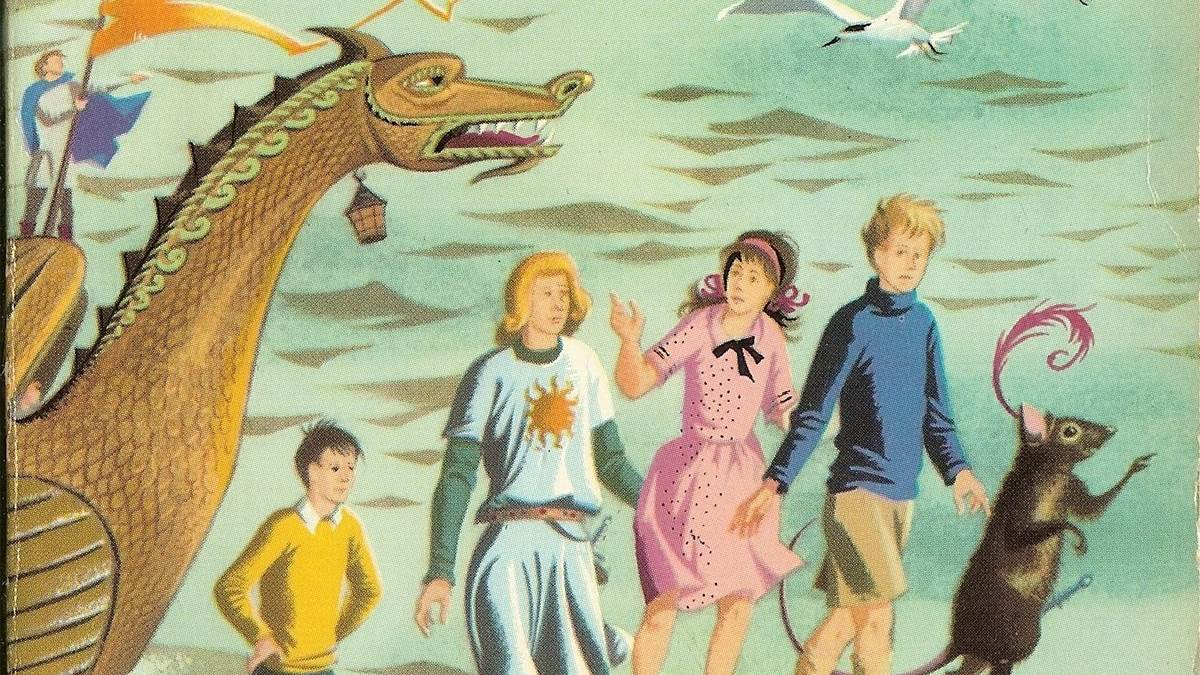 An image from the cover of The Voyage of the Dawn Treader