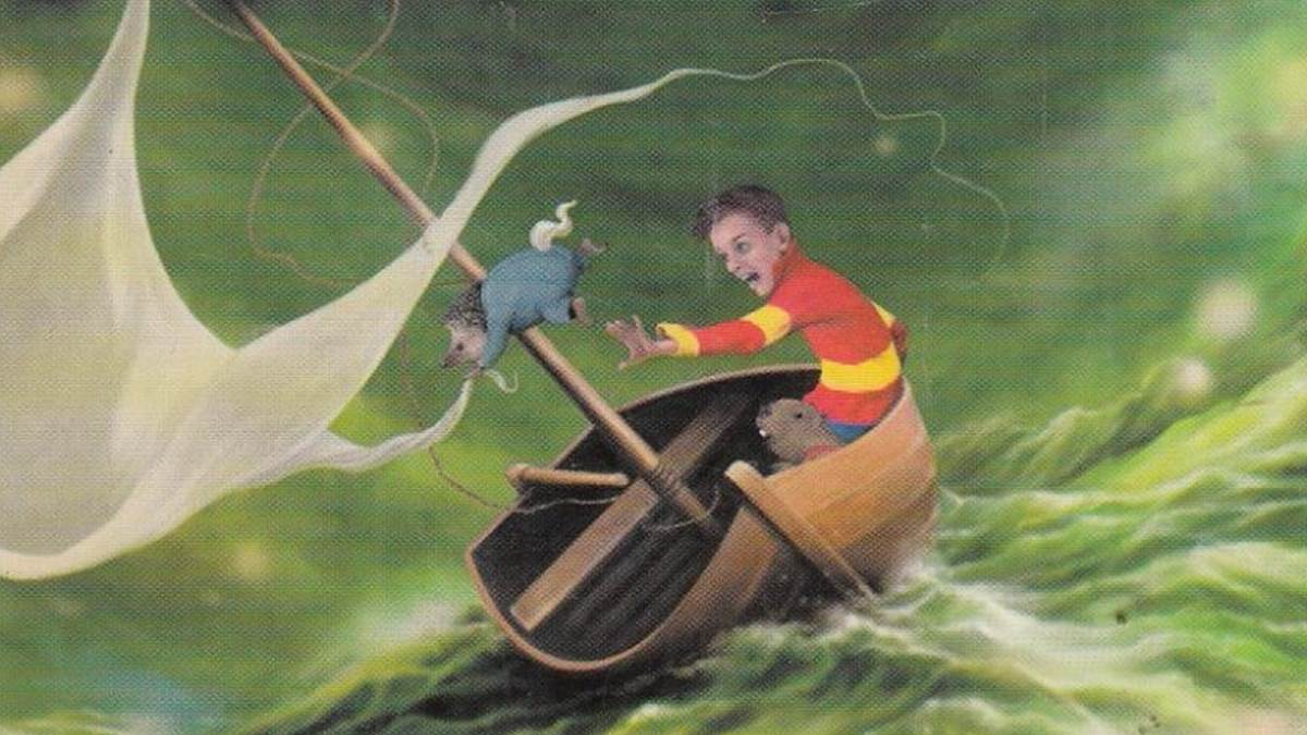 An illustration from the cover of a Beaver Towers book