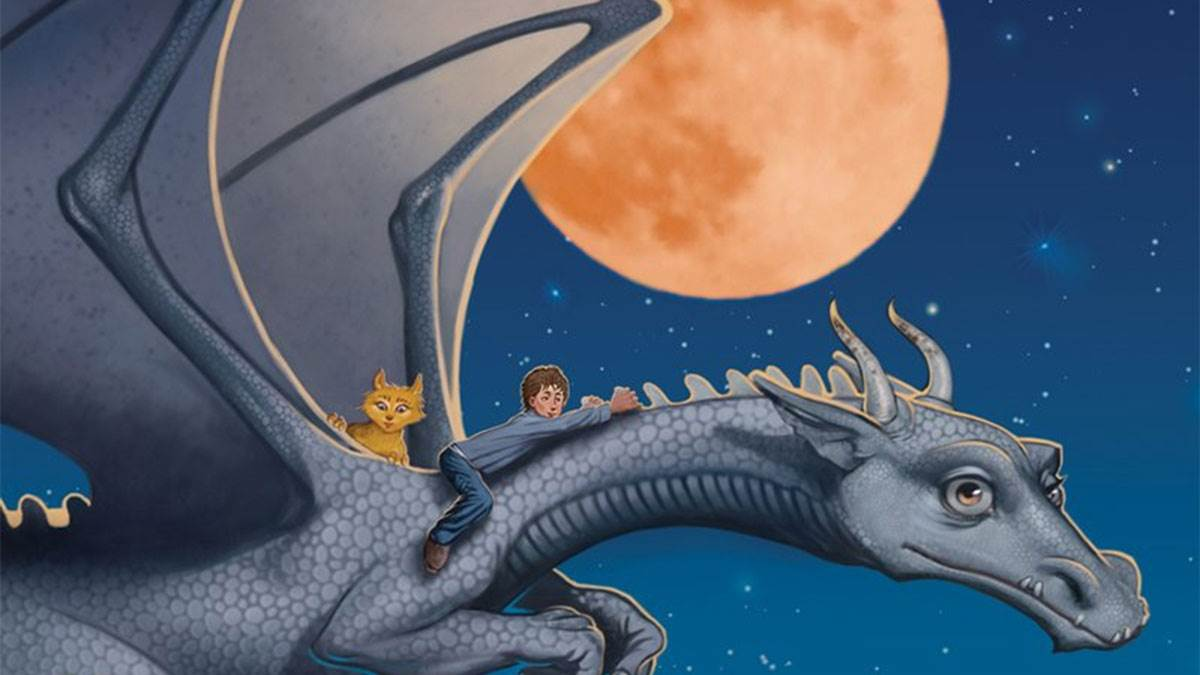 An illustration from the cover of Dragon Rider by Cornelia Funke
