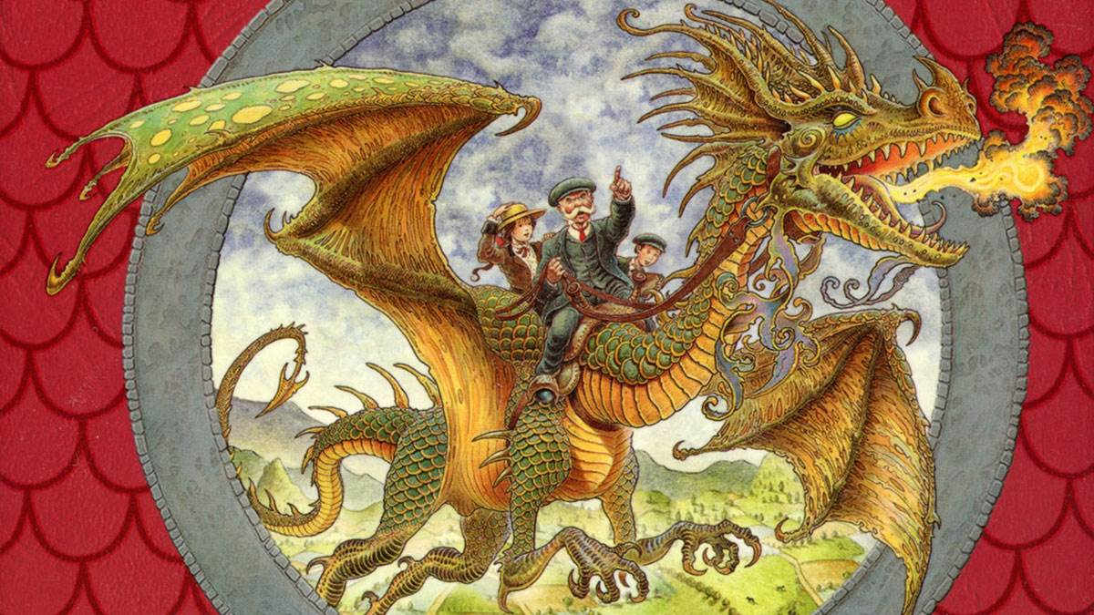 An illustration from the cover of Dragonology by Dugald A. Steer, illustrated by Wayne Anderson, Douglas Carrel and Helen Ward