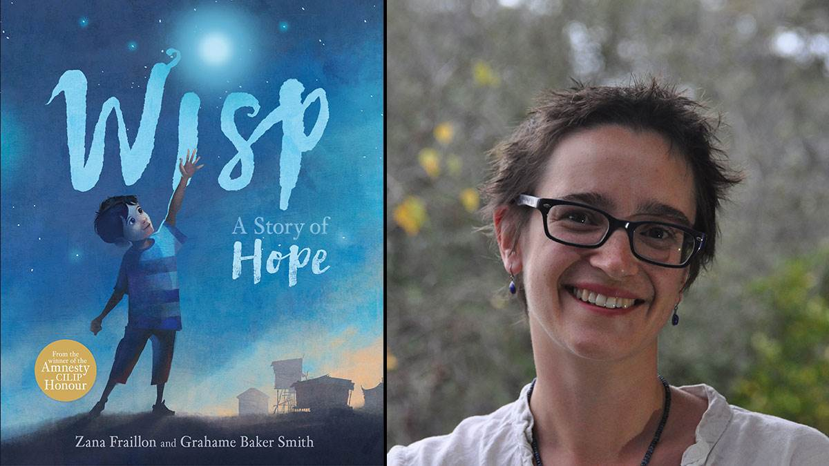 The cover of Wisp and author Zana Fraillon