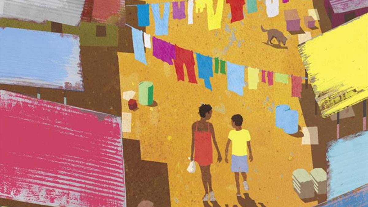 The cover of Journey to Jo'Burg by Beverly Naidoo, illustrated by Lisa Kopper