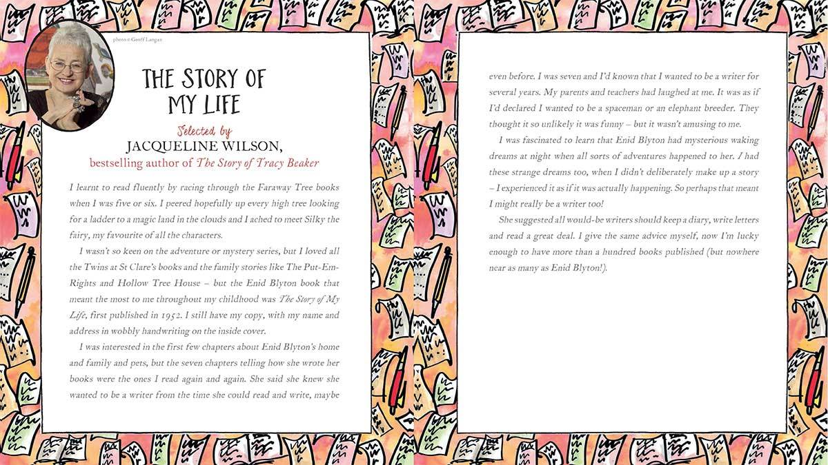 Jacqueline Wilson explains why she loves The Story of My Life by Enid Blyton