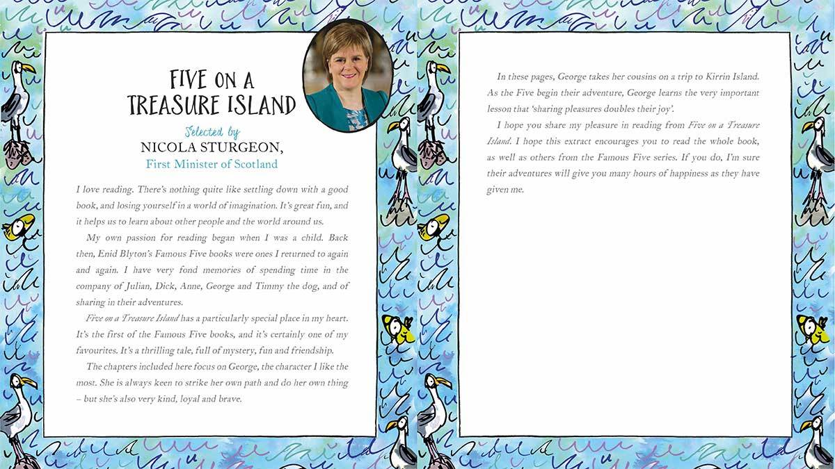 Nicola Sturgeon explains why she loves Five on a Treasure Island by Enid Blyton