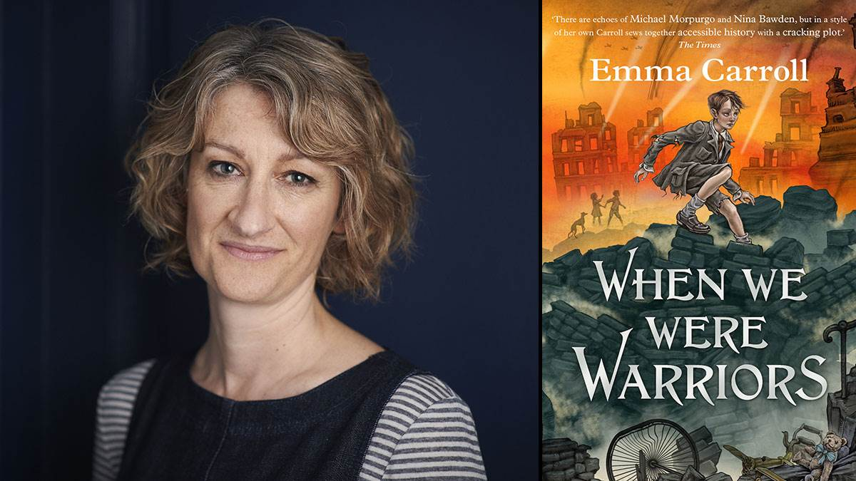 Emma Carroll and her book When We Were Warriors